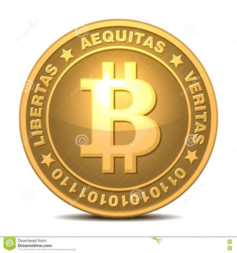 Bitcoins Isolated On White Royalty Free Stock Photography