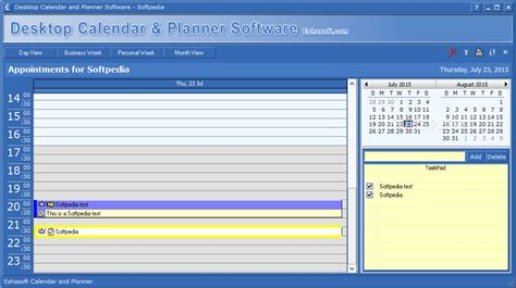 Desktop Calendar and Planner Software Download
