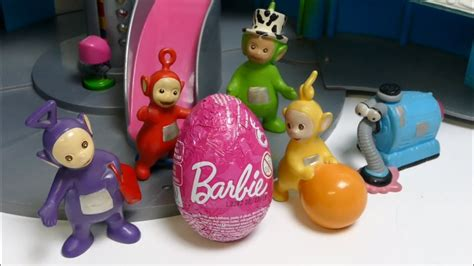 Teletubbies open Barbie Surprise EGG - YouTube