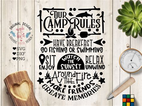 Our Camp Rules Cut File Printable ~ Illustrations