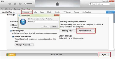 How to Restore Encrypted Data from iTunes to iPad