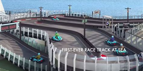 This Cruise Ship Has a Go-Kart Track and Suddenly a Cruise