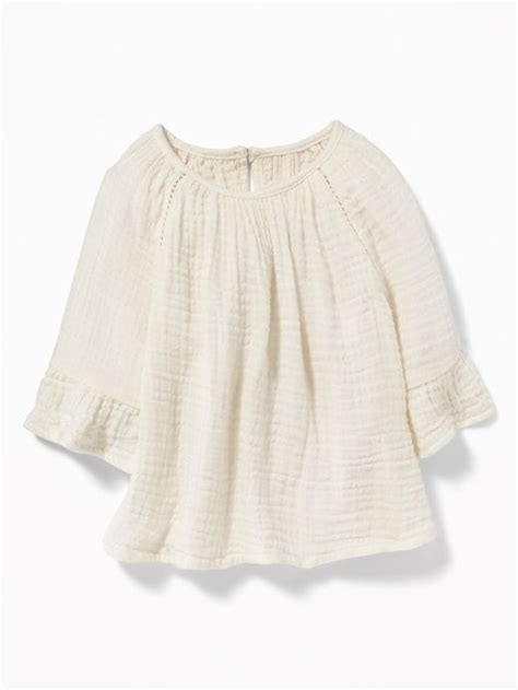 Crinkle-Gauze Peasant Top for Baby | What to wear fall