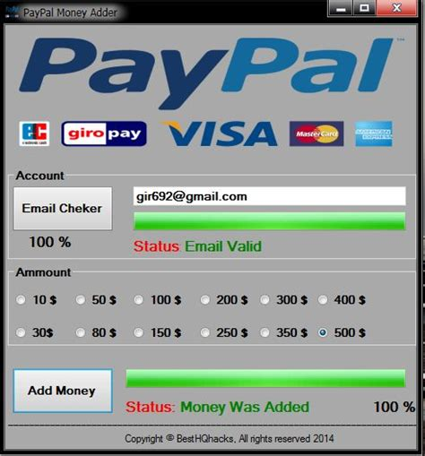 Unlimited free Paypal money on your Paypal account