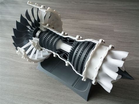 Model of the Week: 3D Printable High-Bypass Jet Engine