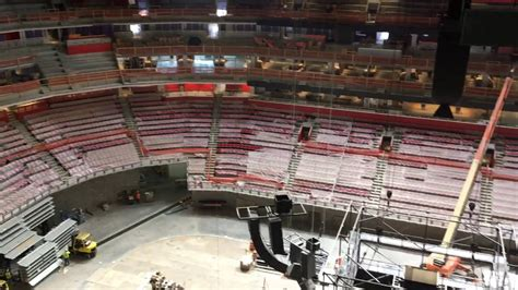 Gondola seats view at Little Caesars Arena - YouTube