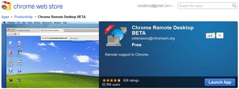 How to use Chrome Remote Desktop extension to control