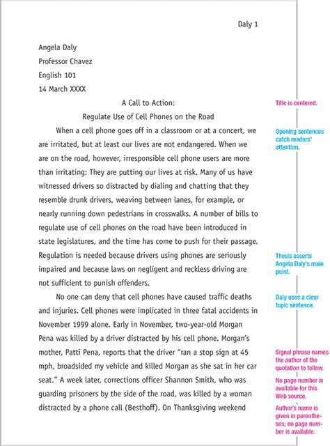 This website demonstrates how to use MLA format in every