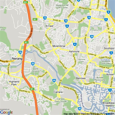 Map of Gold Coast, Queensland | Hotels Accommodation