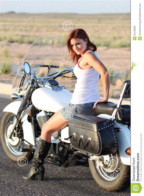 Sexy Motorcycle Rider Royalty Free Stock Image - Image