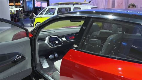 A shot of the interior of the Volkswagen ID prototype