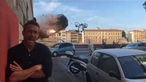 Ryan Reynolds shares explosive behind the scenes 6