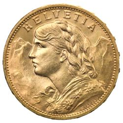 Buy Swiss Franc Gold Coins | Classic Designs | coininvest