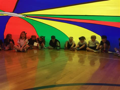 Parachute Day in our Lower School PE | Brook Hill School