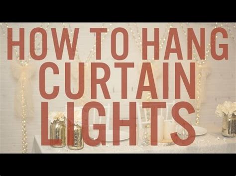 How to Set Up & Hang Curtain Lights - YouTube