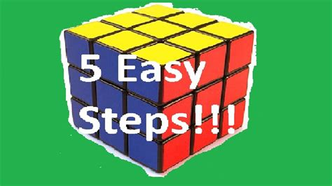 HOW TO SOLVE A RUBIK'S CUBE IN 5 EASY STEPS!! - YouTube