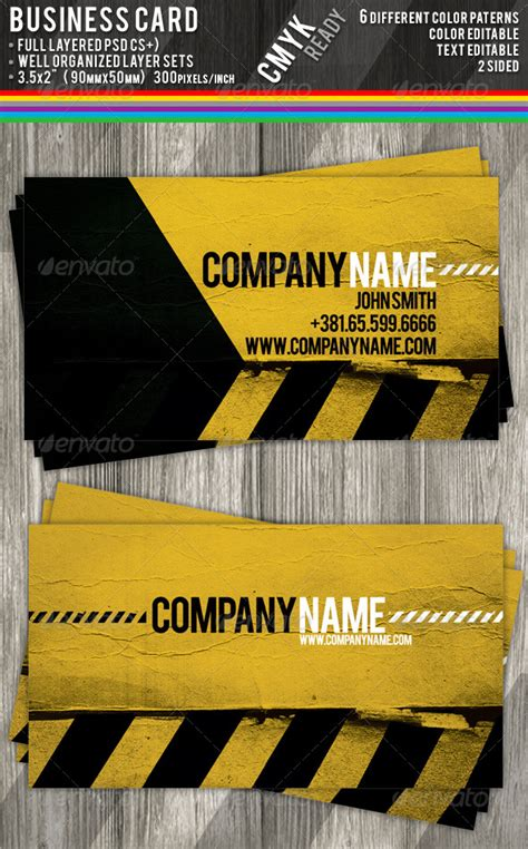 Construction Business Cards by shindiri | GraphicRiver