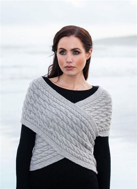 Fisherman Aran Cable Wrap in Wool & Cashmere - Stunning