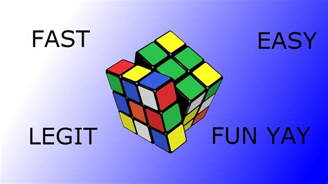 100% LEGIT,EASY and FAST way to solve a (3x3) Rubik's cube