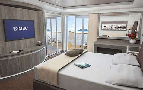 Cruises with MSC Seaview, staterooms