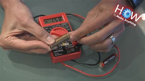 How to Use a Multimeter as Battery Tester - YouTube