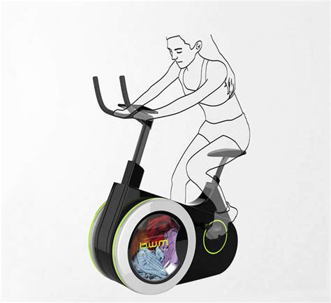 Exercise Bike Doubles As Washing Machine To Make You Fit