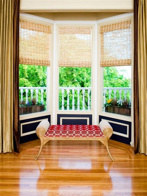 Bay Window Sitting Area With Painted Wainscoting   HGTV
