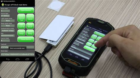 NFC RFID Reader working on Android - RFID card reading
