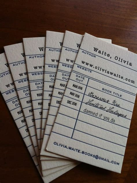5 Awesome Librarian Business Cards | OEDB