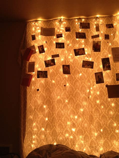 My bedroom wall - Christmas Lights covered in a sheet