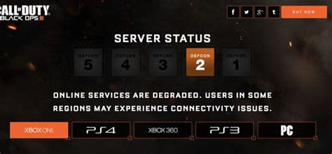 Black Ops 3 Xbox servers down with DEFCON 2 status