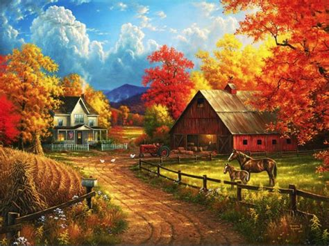 This is just the most beautiful Fall Farm Scene!I Country