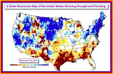 Drought and Flooding Map of the United States