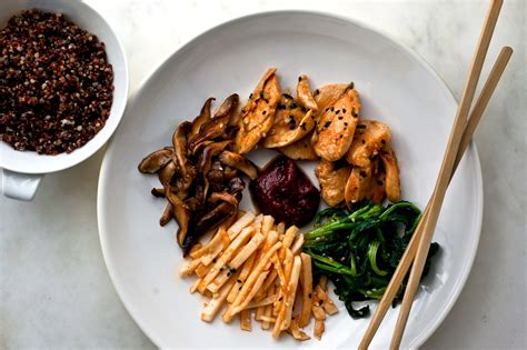 Bibimbap With Chicken and Mushrooms Recipe - NYT Cooking