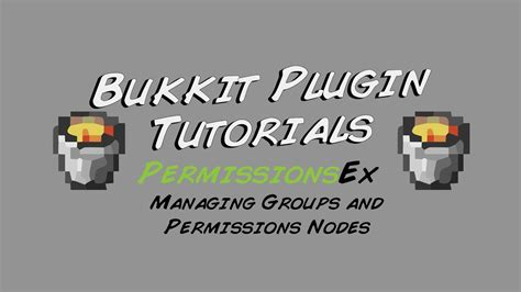 PermissionsEx Tutorial - How to Manage Groups and