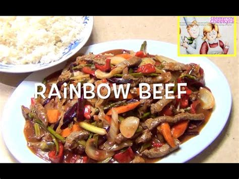 How to Make Rainbow Beef like a Chinese Restaurant