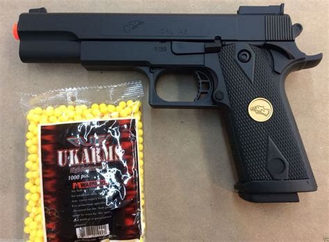 BEST QUALITY FULL SIZE SPRING AIRSOFT GUN PISTOL WITH FREE