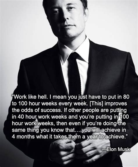 Elon Musk on Work   Elon musk quotes, Inspirational quotes