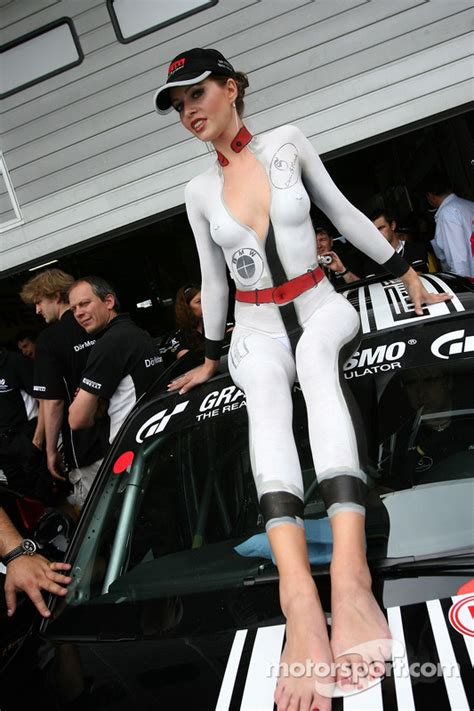 A lovely body-painted girl at 24 Hours of Nurburgring