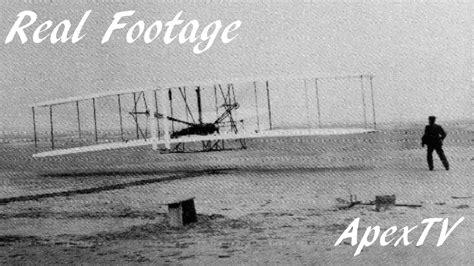 Wright Brothers First Flight RARE Footage - YouTube