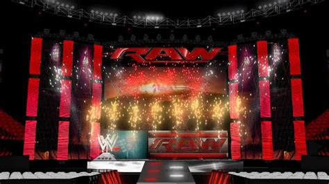 WWE Monday Night Raw Official Opening Pyro Animation - YouTube