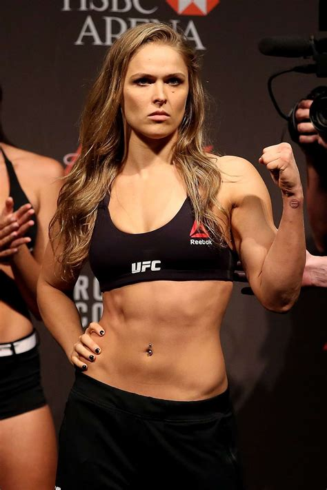 Ronda Rousey – UFC 190 Weigh In at the HSBC Arena in Rio