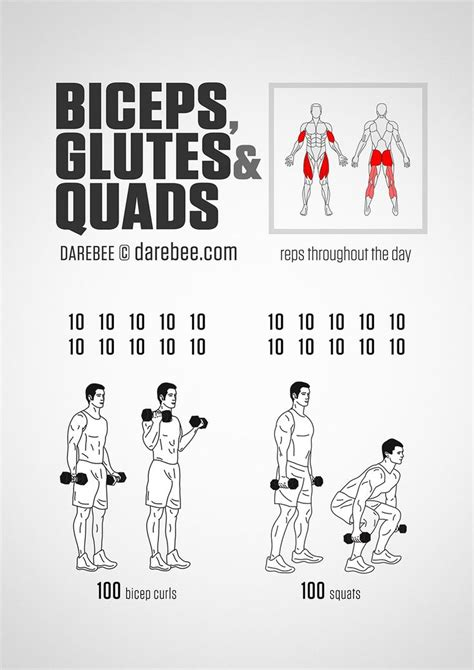 Biceps, Glutes And Quads Workout | Quad exercises