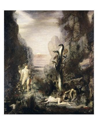 Hercules and the Hydra Giclee Print by Gustave Moreau at