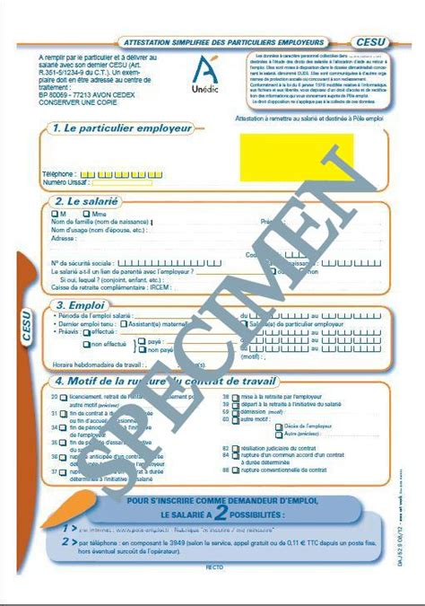 ATTESTATION ASSEDIC VIERGE A TELECHARGER PDF