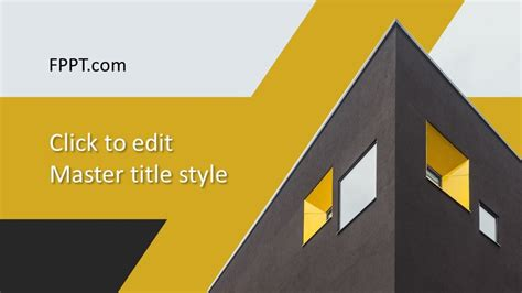 Free Architecture Concept PowerPoint Template - Free