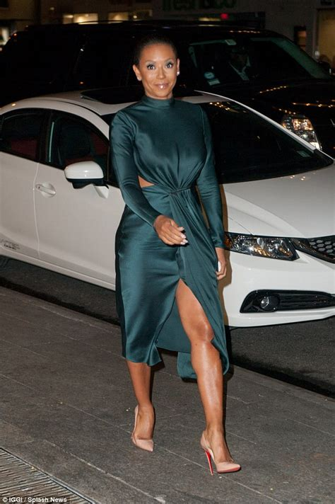 X Factor judge Mel B shows off her toned legs in cut-out