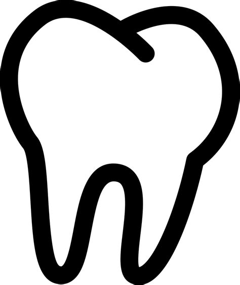 Tooth Outline Svg Png Icon Free Download (#43392